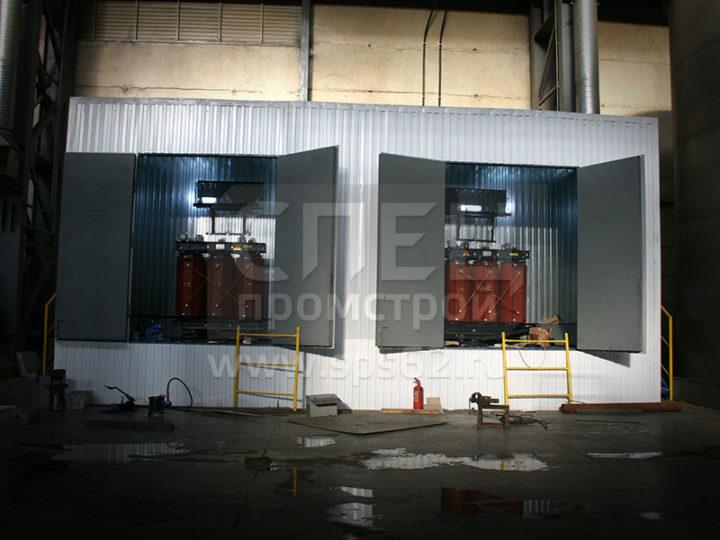 Монтаж площадки из профлиста для подстанции 0.4 кВт
