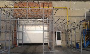 Изготовление и монтаж тамбура с ПВХ воротами
