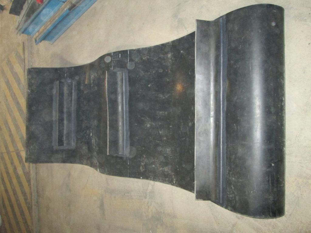 Изготовление конвейерной ленты в кольцо, с поперечными планками
