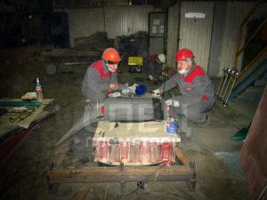 Стыковка резинотканевой ленты вне конвейерного оборудования
