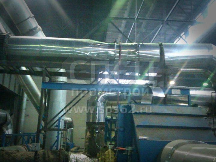 Утепление газоходов системы дожига остаточных газов