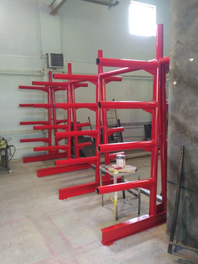 Изготовление металлических стеллажей из металлоконструкций любых размеров с покраской