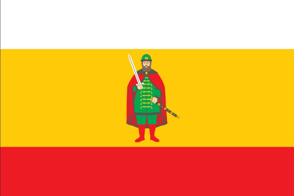 Флаг Рязанской Области, именно в области много наших контрагентов.