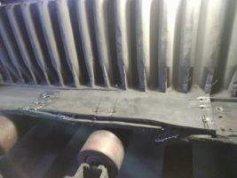 Ремонт продольного пореза на конвейерной ленте Maxoflex