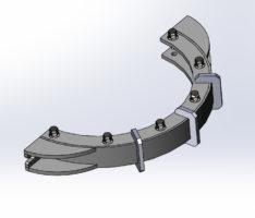 Моделирование элементов конструкции модернизированной аэрофонтанной сушилки песка