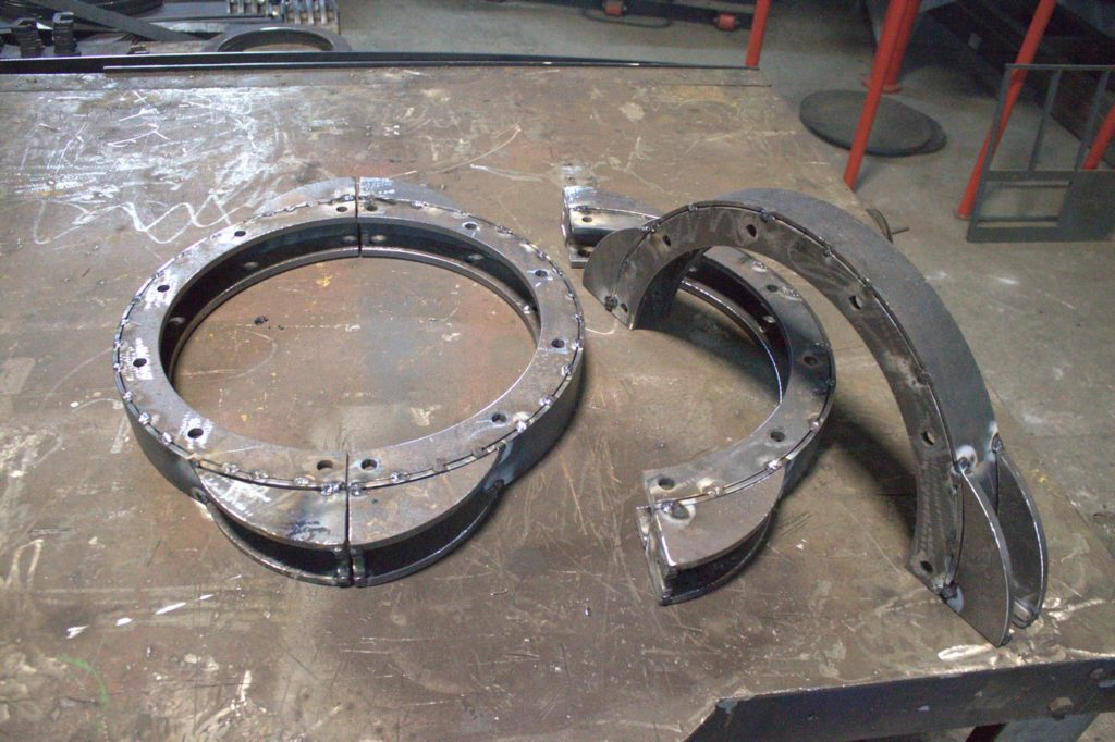 Кламповое соединение для модернизации аэрофонтанной сушилки песка