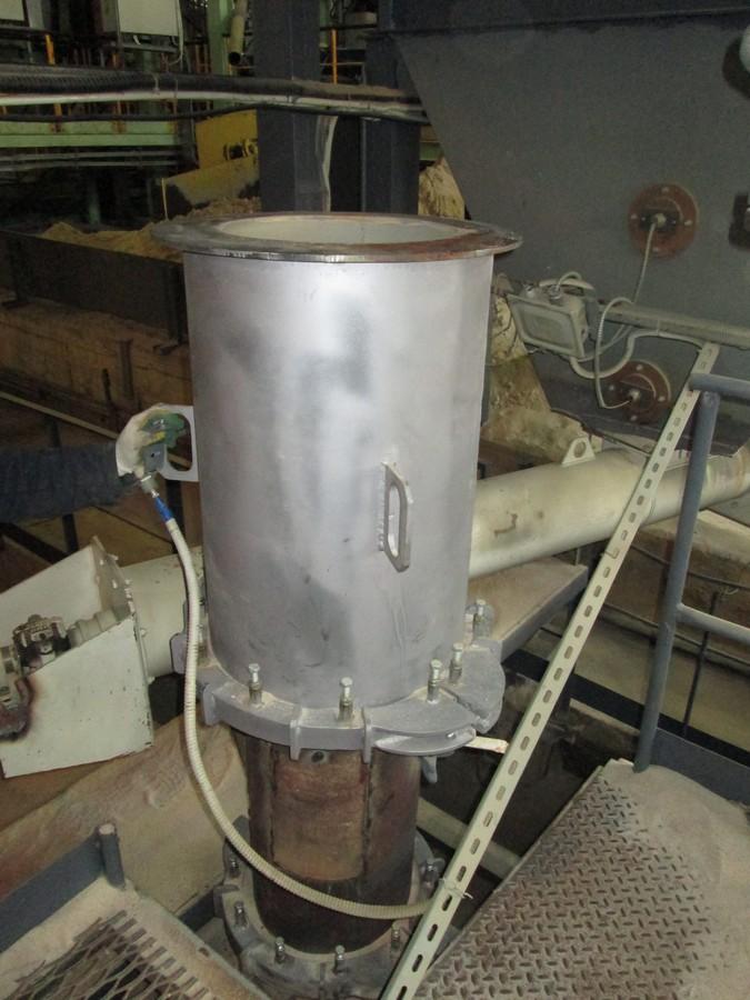 Монтаж готовой модернизированной аэрофонтанной сушилки для песка