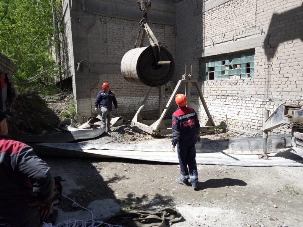 Стыковка конвейерных лент методом горячей вулканизации на цементном заводе