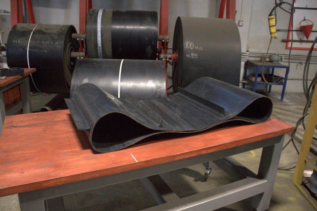 Изготовление транспортёрной ленты в кольцо методом горячей вулканизации
