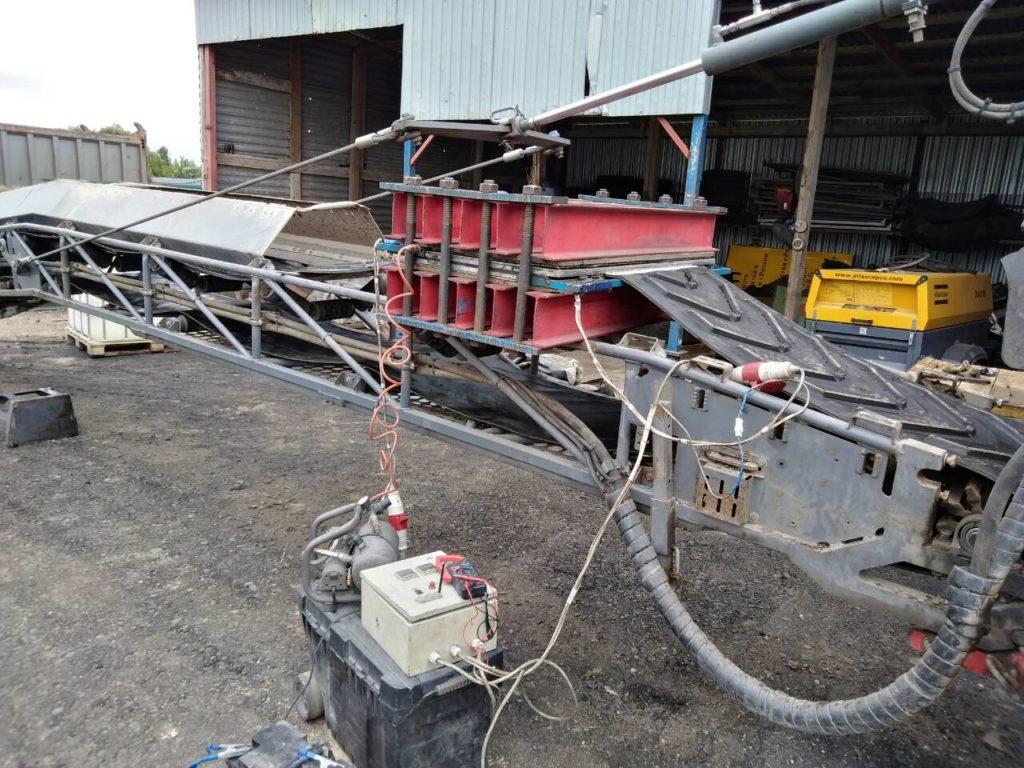 Работы по стыковке методом горячей вулканизации на фрезе Wirtgen