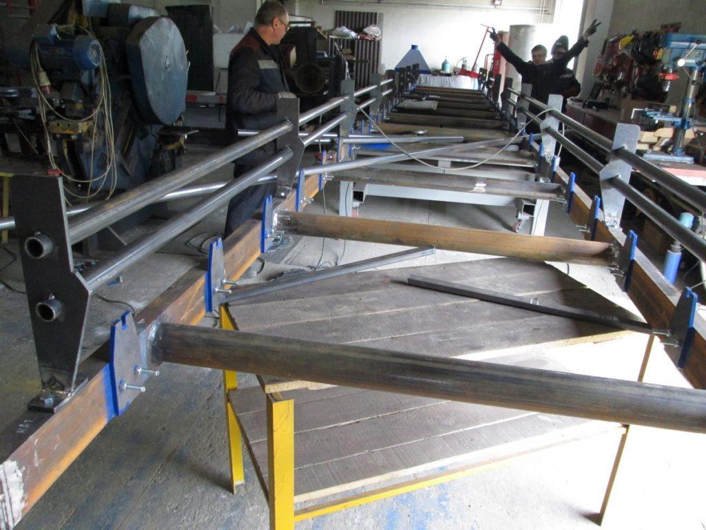 Изготовление ленточного конвейера для мусороперерабатывающего предприятия