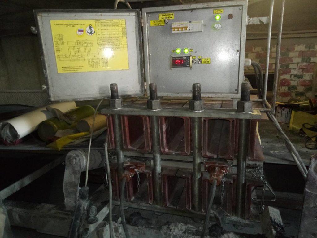 Ремонт порыва методом горячей вулканизации на резинотканевой транспортёрной ленте