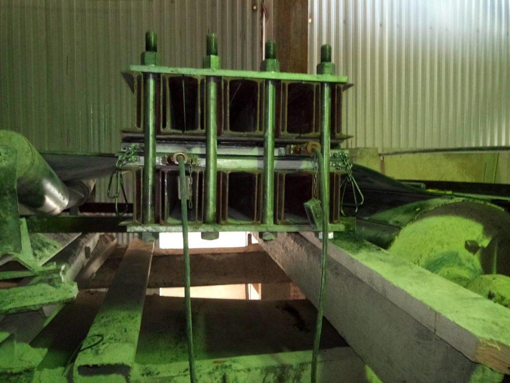 Стыковка конвейерной ленты на конвейере заказчика
