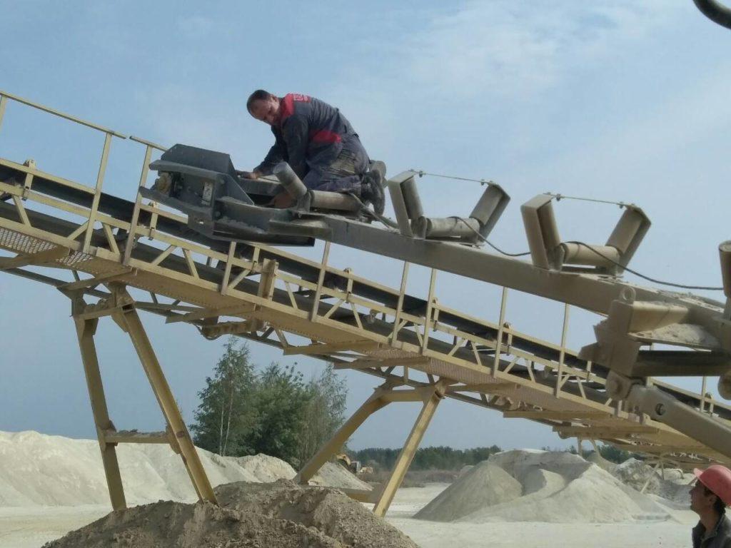 Поставка и стыковка конвейерных лент методом горячей вулканизации на каменный карьер