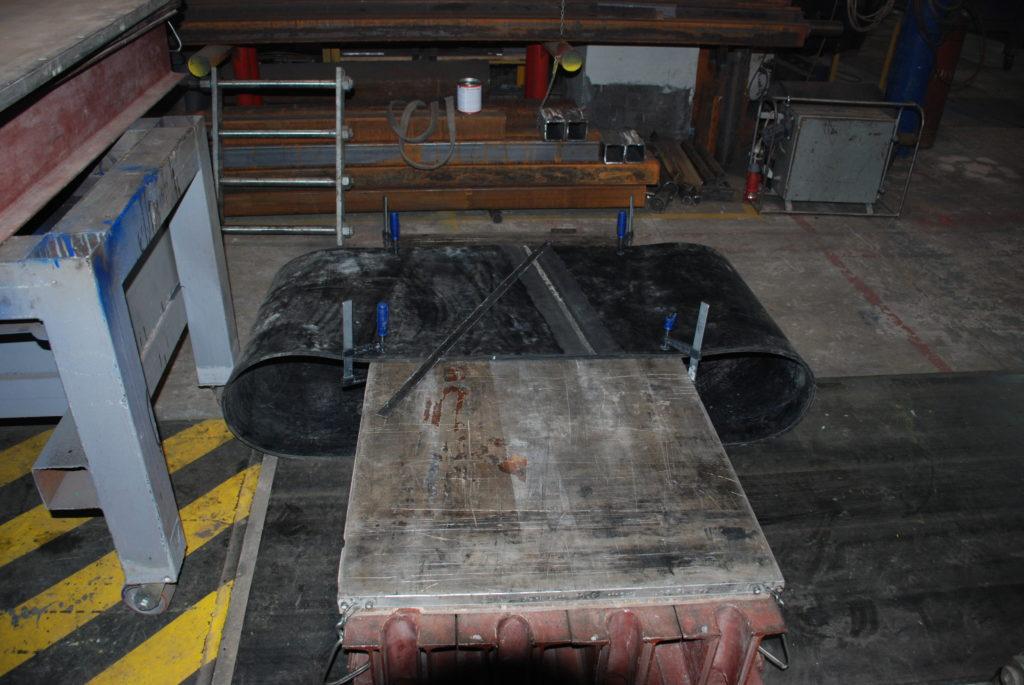 Изготовление транспортёрных лент в кольцо методом горячей вулканизации