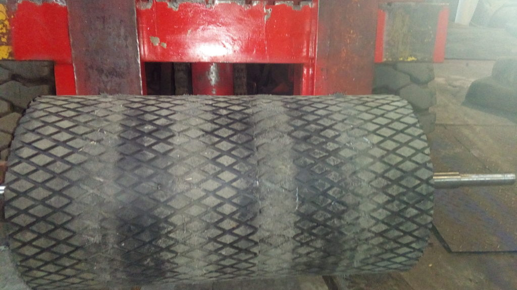 Футеровка вала с магнитами для магнитного сепаратора