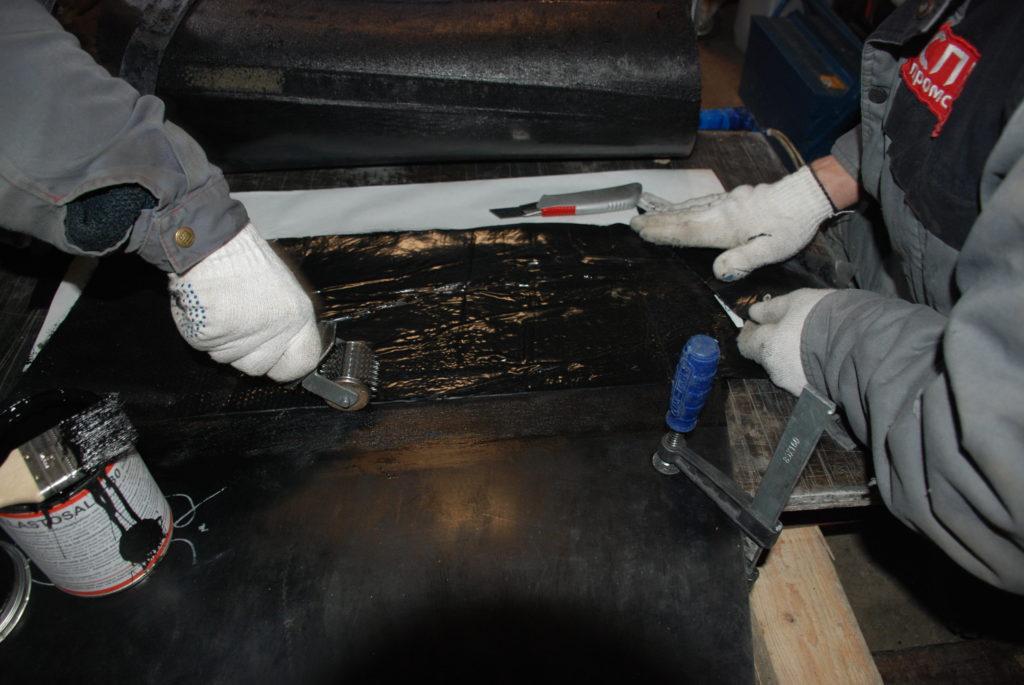 Изготовление теплостойкой конвейерной ленты в кольцо методом горячей вулканизации