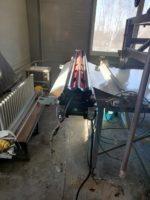 Стыковка полиуретановой пищевой конвейерной ленты методом горячей вулканизации