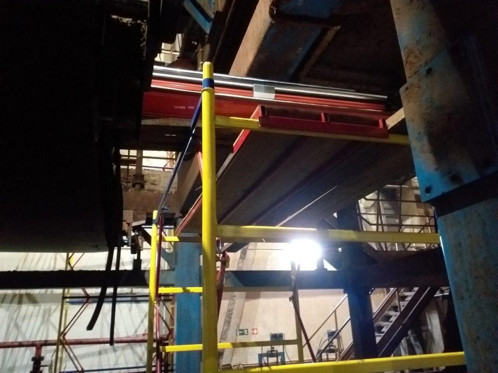 Стыковка конвейерной ленты ПВХ Habasit SNB-12E мметодом горячей вулканизацииСтыковка конвейерной ленты ПВХ Habasit SNB-12E мметодом горячей вулканизации