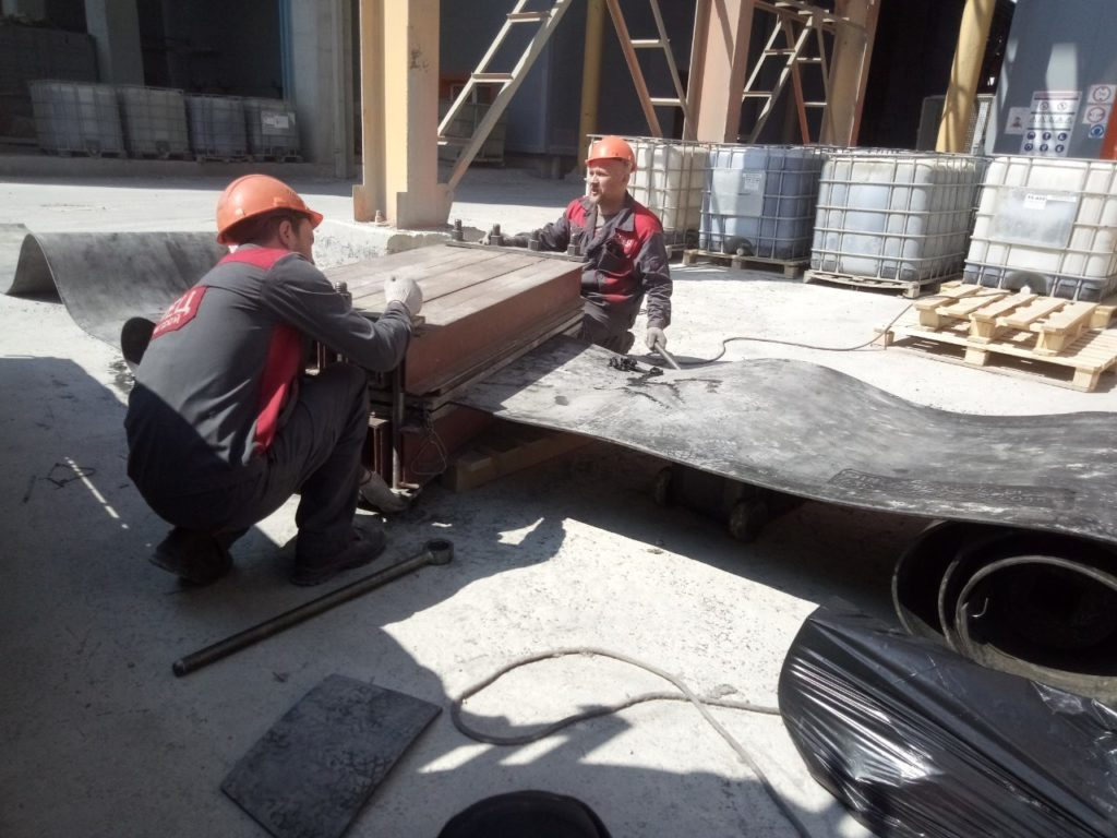 Стыковка конвейерных лент методом горячей вулканизации специалистами СпецПромСтрой