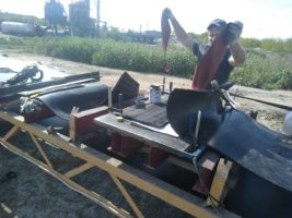 Стыковка транспортёрной ленты методом горячей вулканизации 800мм шириной в Тамбове