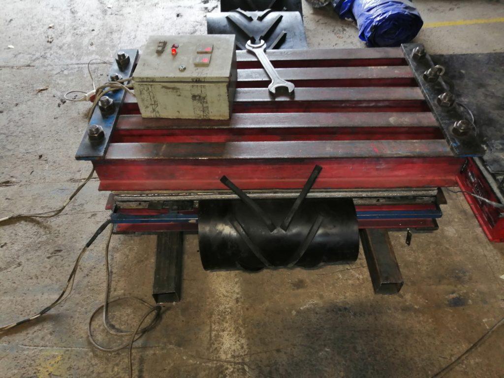 Изготовление шевронных транспортёрных лент в кольцо методом горячей вулканизации