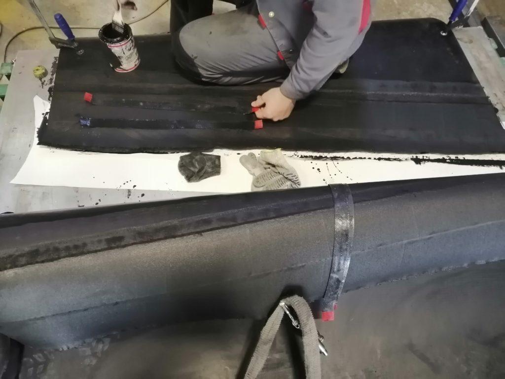 Изготовление транспортёрных лентв кольцо методом горячей вулканизации для Таджикистана