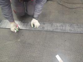 Изготовление элеваторной конвейерной ленты под стыковку методом горячей вулканизации