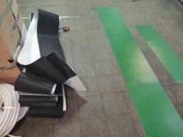 Конвейерные ленты с профилем Supergrip и направляющей