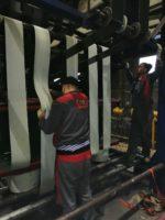 Замена и стыковка горячей вулканизацией транспортёрных лент ПВХ