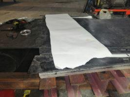 Изготовление кольца транспортёрной ленты для щебника методом горячей вулканизации