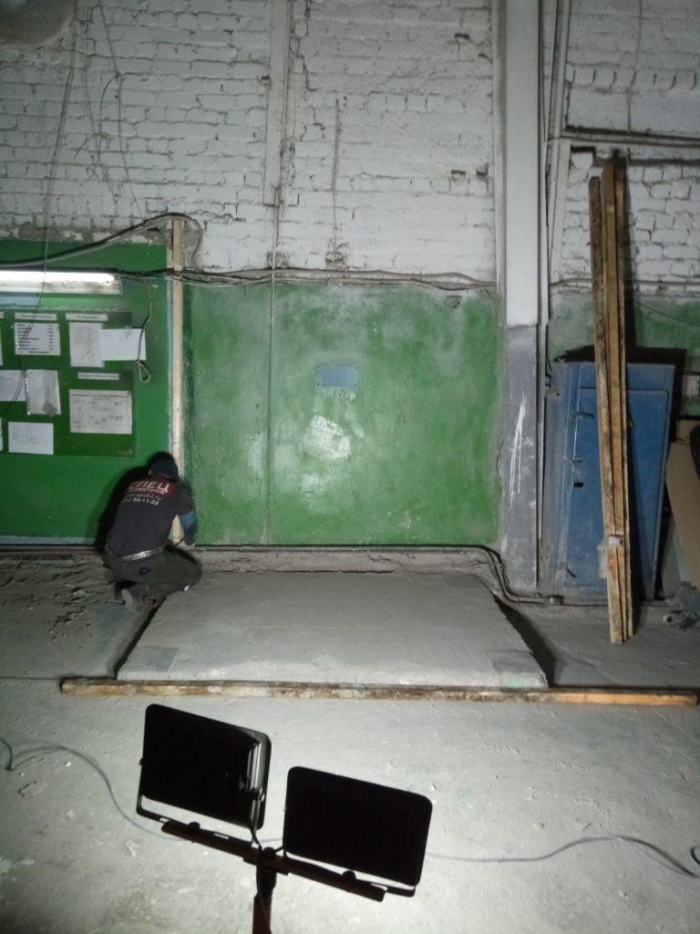 Работы по демонтажу газовой печи сушки бумаги