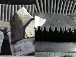 Ремонт гофробортовой ленты методом горячей вулканизации
