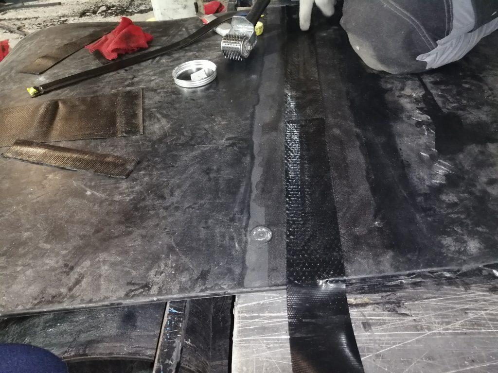 Изготовление лент в кольцо методом горячей вулканизации