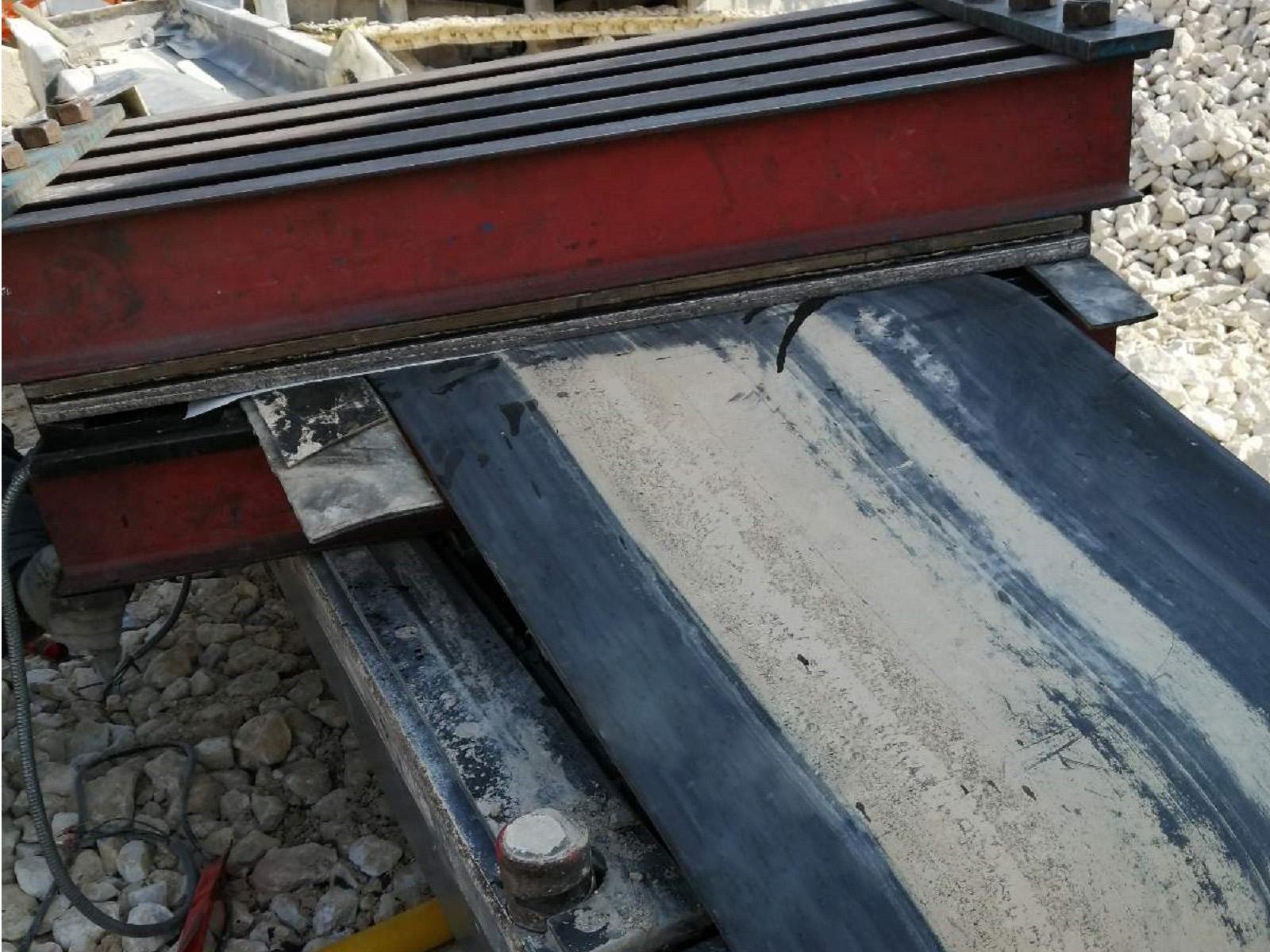 Ремонт транспортёрной ленты методом горячей вулканизации