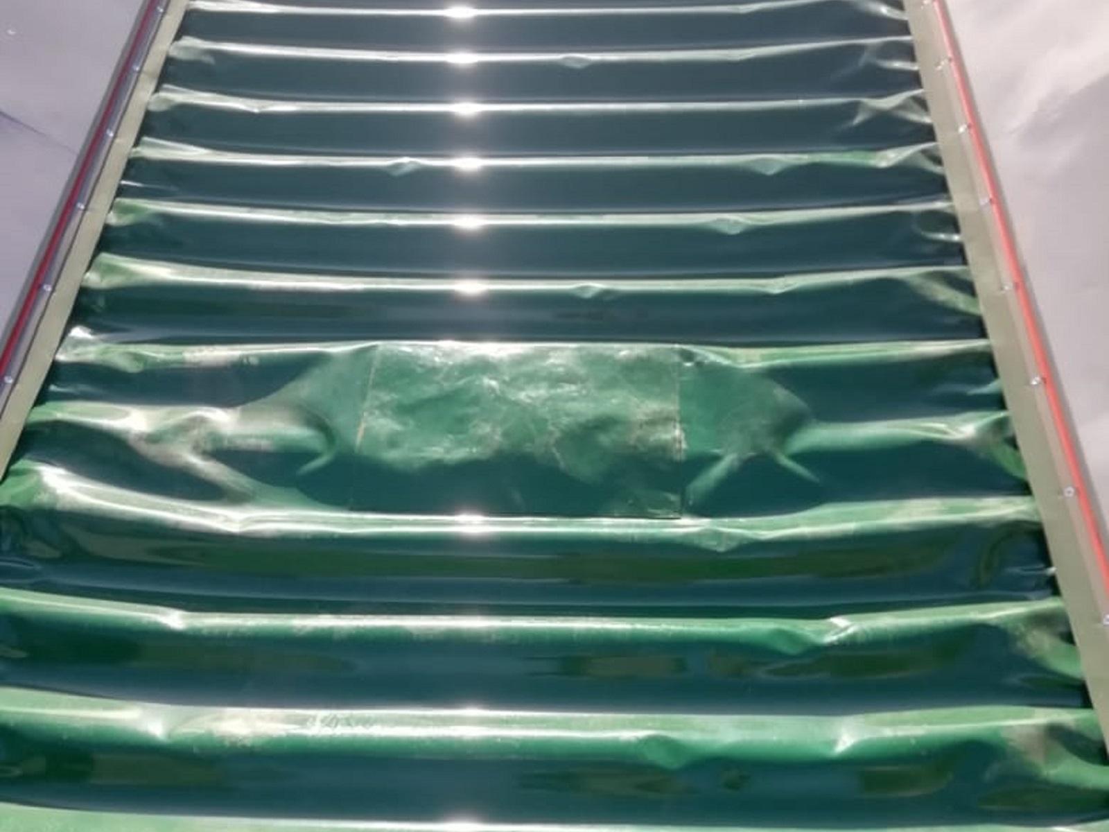 Установка заплатки методом холодной вулканизации на конвейерную ленту ПВХ