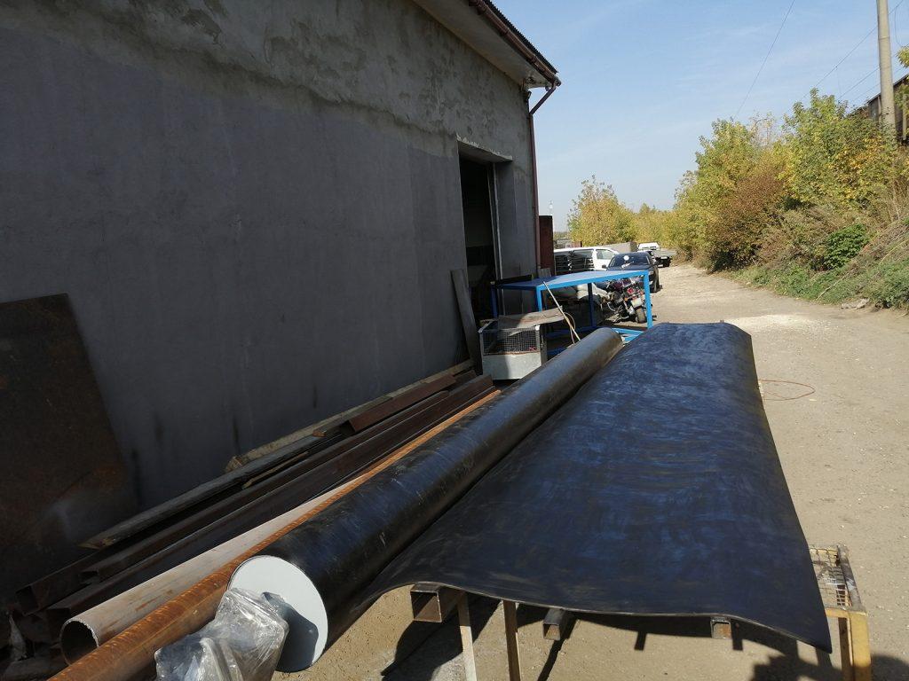 Обрезинивание (футеровка) валов, длиной 6 метров