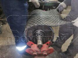 Обрезинивание приводных барабанов футеровочной пластиной